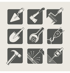 construction tools set of vector image vector image