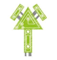 drawing computer circuit arrow electronic vector image