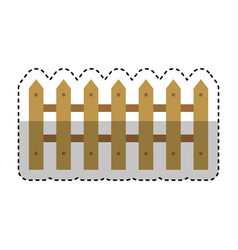 farm fence isolated icon vector image