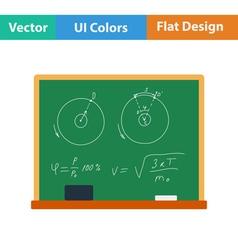 Flat design icon of Classroom blackboard vector image