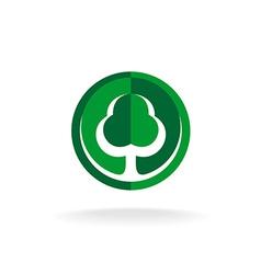 Green oak tree logo template vector image