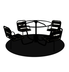 Silhouette Swing Black on White Background vector image