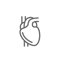 simple heart line icon symbol and sign vector image vector image