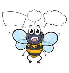 Cartoon Thinking Bee vector image vector image