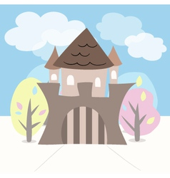 Castle with trees vector image