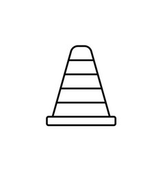Cone line icon navigation and traffic warning vector