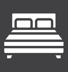 double bed solid icon furniture and interior vector image