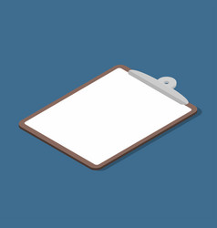 isometric clipboard with empty page business vector image