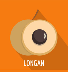 longan icon flat style vector image vector image