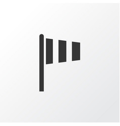 vane icon symbol premium quality isolated flag vector image