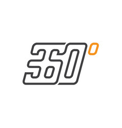 360 degrees creative line logo icon vector