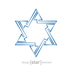 Abstract star of David with arrows on white vector image