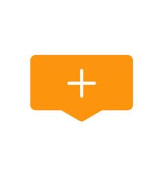 add cloud icon symbol simple design vector image