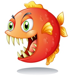 An orange piranha vector