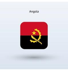 Angola flag icon vector