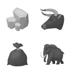 Animal history and other monochrome icon in vector