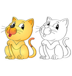 animal outline for cat vector image