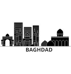 baghdad architecture city skyline travel vector image