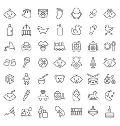 Baicon set in thin line style symbols vector
