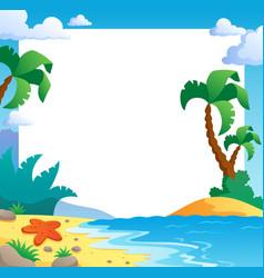 beach theme frame 1 vector image