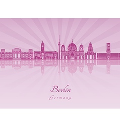 Berlin V2 skyline in purple radiant orchid vector