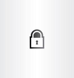 black lock icon sign vector image