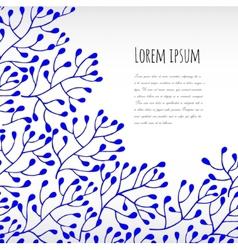 Blue floral background vector