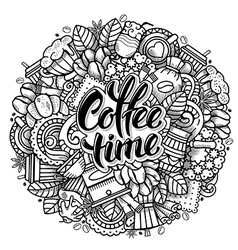 Coffee Doodle Design vector image