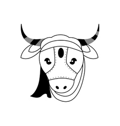 Cow as Sacred animal icon Indian Culture design vector
