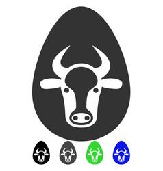 Cow egg flat icon vector