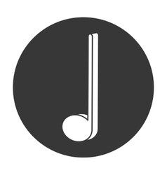 Crotchet musical note icon vector