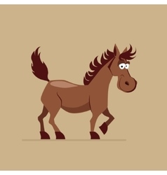 Cute Smiling Horse vector image