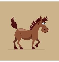 Cute Smiling Horse vector