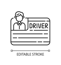 Drivers license linear icon vector