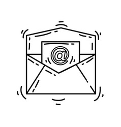 e-commerce email icon hand drawn icon set outline vector image
