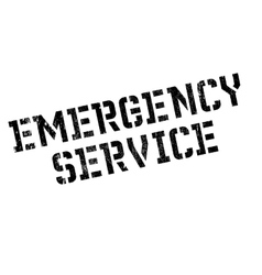 Emergency service rubber stamp vector