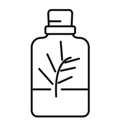 Essential oils perfume icon outline style vector