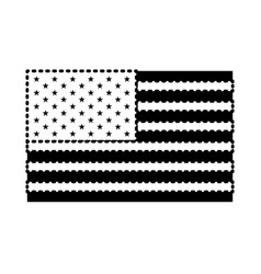 Flag united states of america flat black vector
