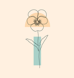 Flower and geometric shapes vector