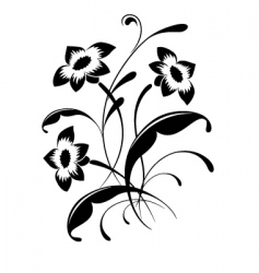 Flower pattern tattoo vector
