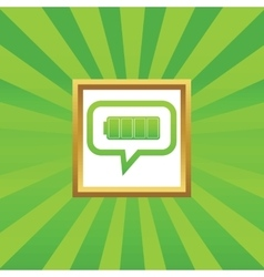 Full battery message picture icon vector