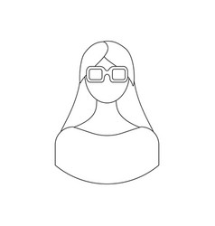 girl in 3d glasses vector image
