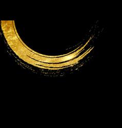 golden paint strokes border gold luxury style vector image