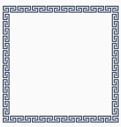 Greeke decorative frame for design vector image