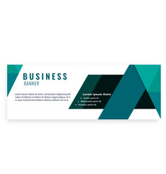 green abstract business banner design image vector image