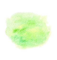 green and yellow abstract watercolor paint vector image