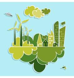 Green city renewable resources vector image