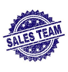 Grunge textured sales team stamp seal vector