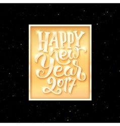 Happy New Year 2017 text on party flyer template vector