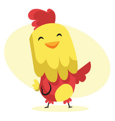 happy rooster easter art web on a white background vector image